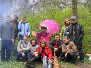 faubourg littéraire à la mont Lysaya avec Ragneda Kryshtaliuk