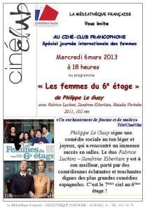 affiche ciné-club à minsk 6 mars