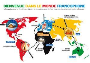 carte du monde de la francophonie