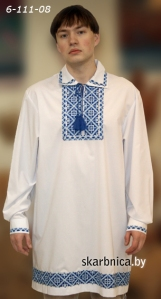 chemise traditionnelle biélorusse en tissu naturel avec broderie
