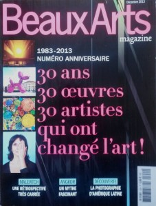 magazine Beaux-Arts décembre 2013 à donner à Minsk