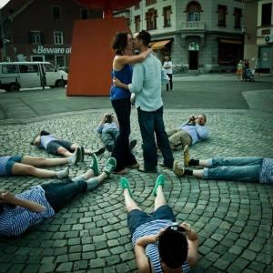 théâtre de rue interactif Moustache biélorusse