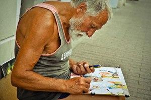 peintre Valery Lyashkevich dessine
