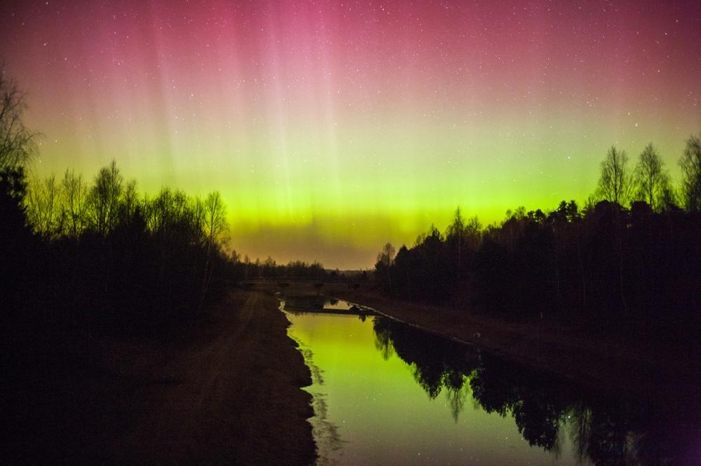 photos aurora borealis Belarus 2015 by Anton Motolko