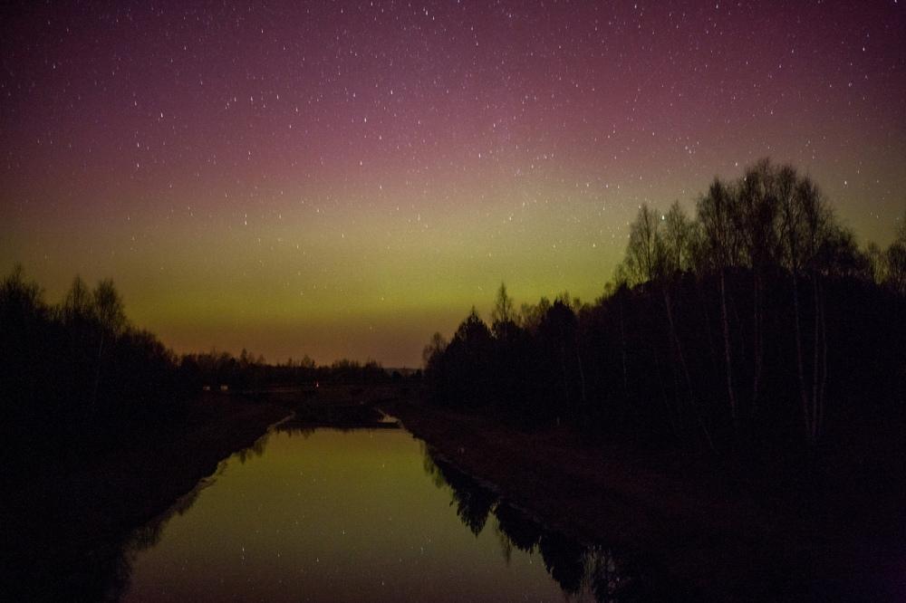 photo aurora borealis 2015 Belarus by Anton Motolko