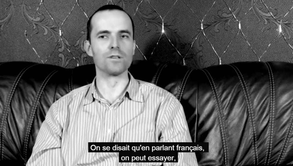 Vladimir Radkevich dans le projet vidéo sur l'image de la France en Biélorussie
