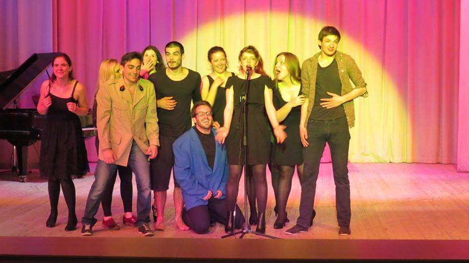 acteurs de Masterclass 2014 Demain Le Printemps au XXIème festival de théâtre amateur francophone à Minsk, Bélarus