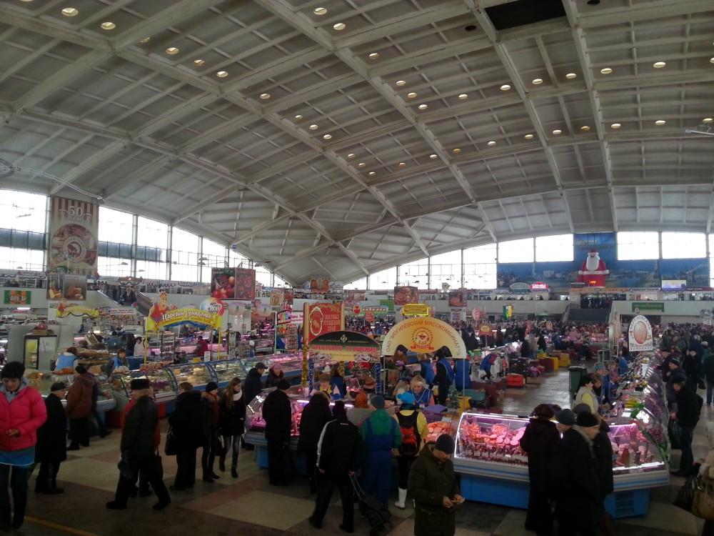 Komarovsky rynok, fameux marché de Minsk