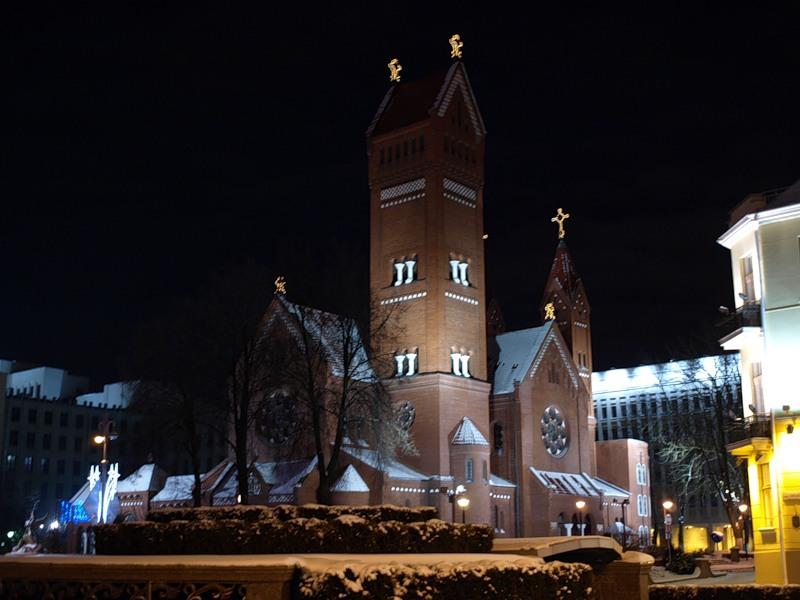 église rouge à Minsk