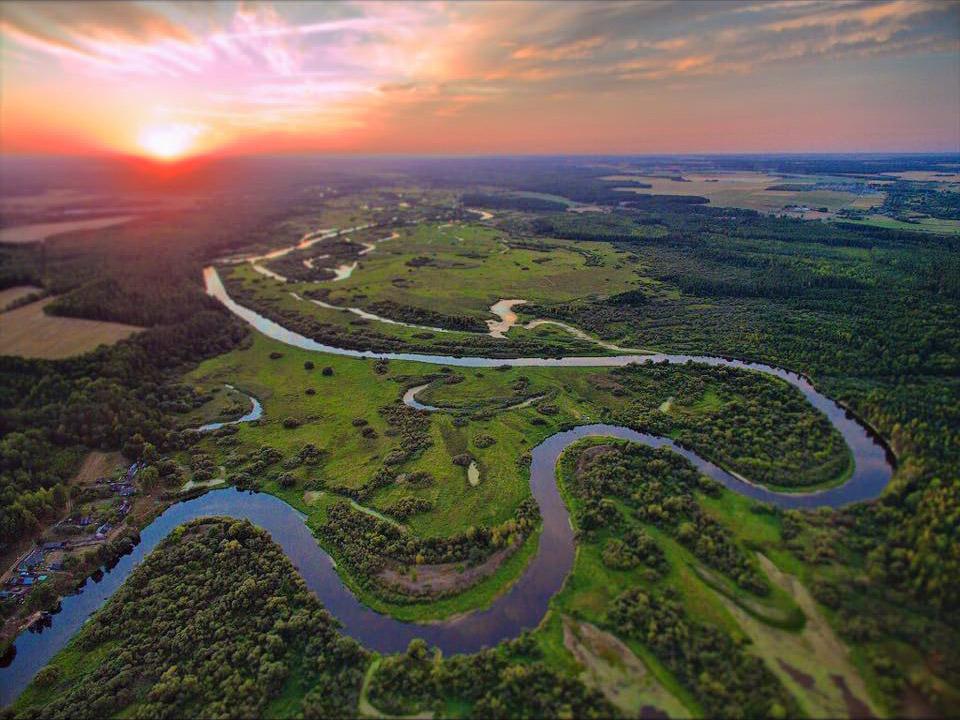La rivière biélorusse