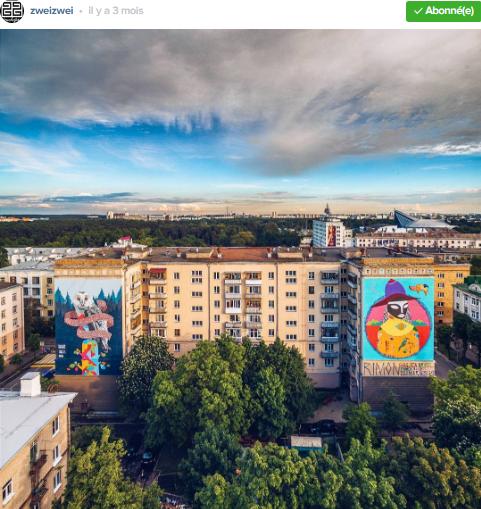 graffiti de rue minsk photo par zweizwei