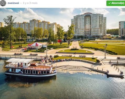 parc et quai Minsk par zweizwei