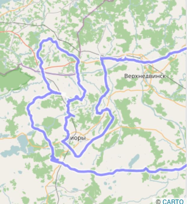 Circuit cycliste à Miory Bélarus