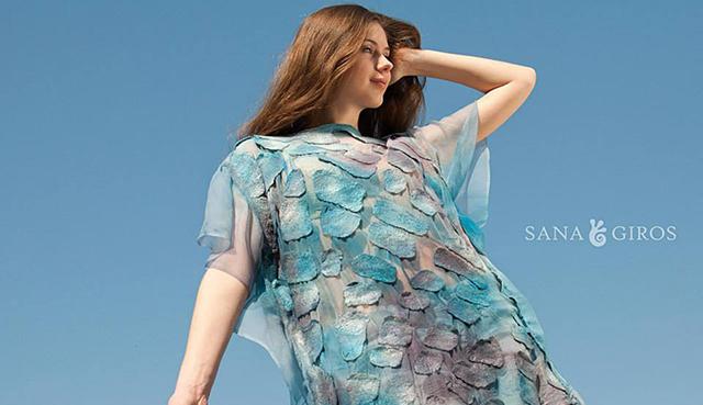 Robe d'été en feutre mode écologique Sana Giros