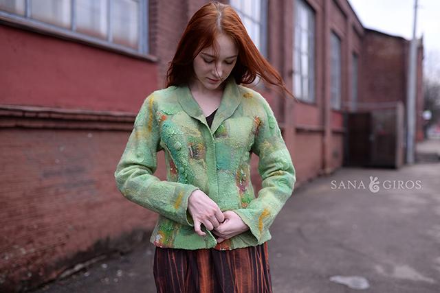 Vêtement écologique de feutre