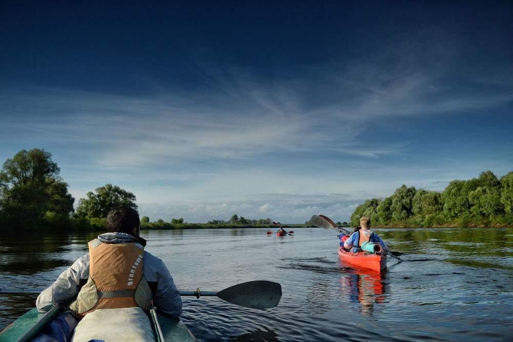 Kayak en Polésie biélorusse